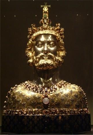 Buste de Charlemagne, cathédrale d'Aix-la-Chapelle